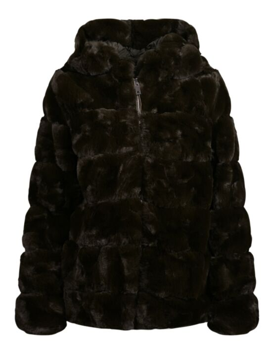 Fake-fur Coat Isabella Groen
