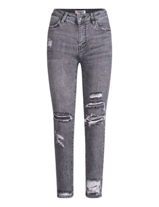 Queen Hearts | Grey Jeans  9205-12