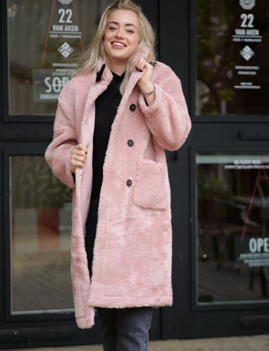 Teddy Coat Shanice Roze