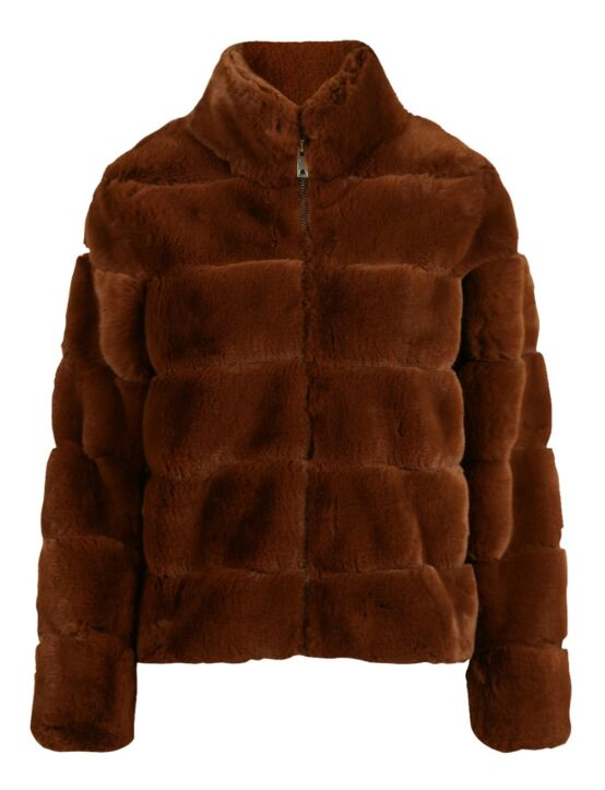 Fake Fur Jacket Janet Camel