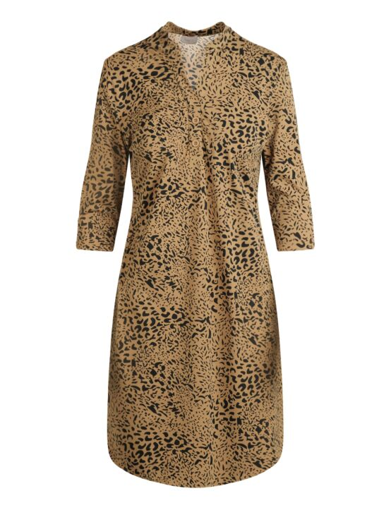 Daelin | Dress Annelise Taupe Leopard