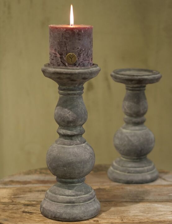 Candleholder Tall Deluxe Ind. Vintage D14.H36