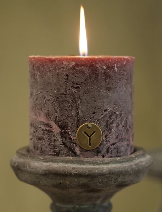 Rustic Candle Bordeaux D10.H10