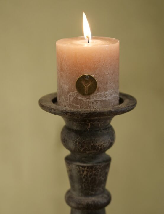 Rustic Candle Taupe D7.H7