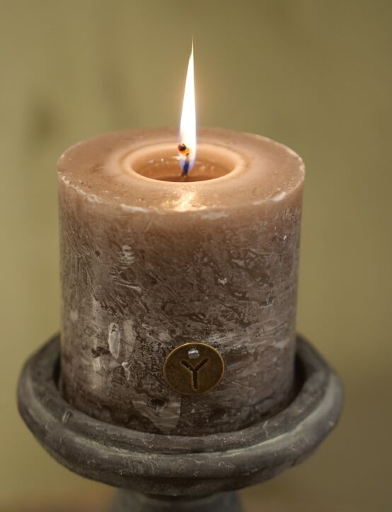 Rustic Candle Brown D10.H10