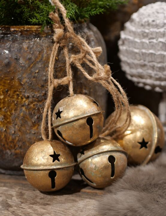 Kerstbalslinger goud