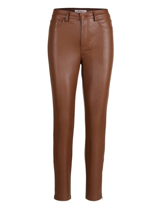 Cindy H | Leather-look Trouser 1959 Camel