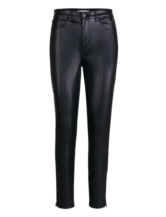 Cindy H | Leather-look Trouser 1959 Zwart
