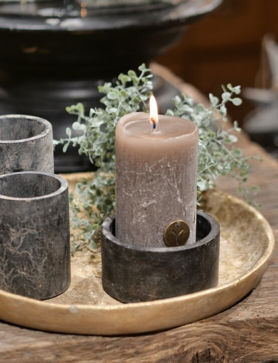 Rustic Candle Brown D7.H12