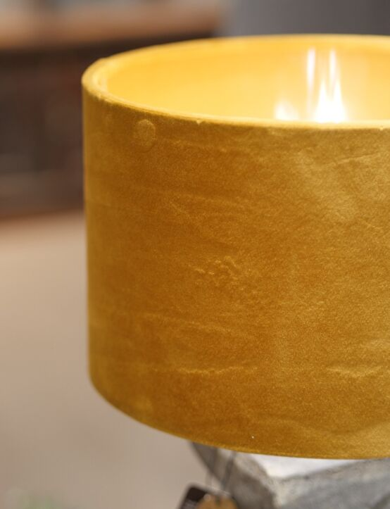 Lampshade Cylinder Ochre D25.H16