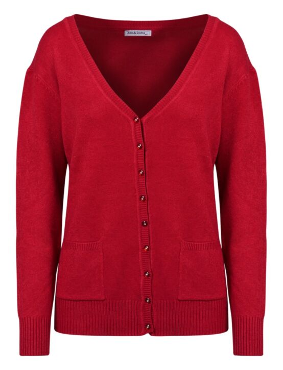 Vest Sparkle Button Rood
