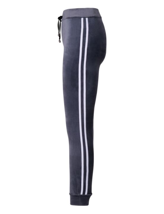 Jogging Velvet Stripe Grijs