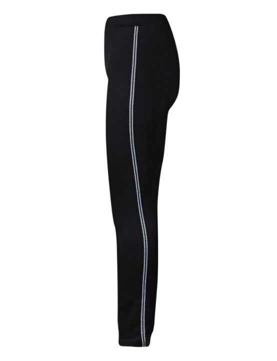Jogging Trouser Double Sparkle Stripe Zwart
