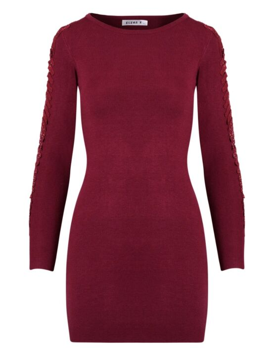 Dress Elena Bordeaux