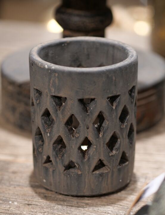 Cylinder Tealight Touch of Brown