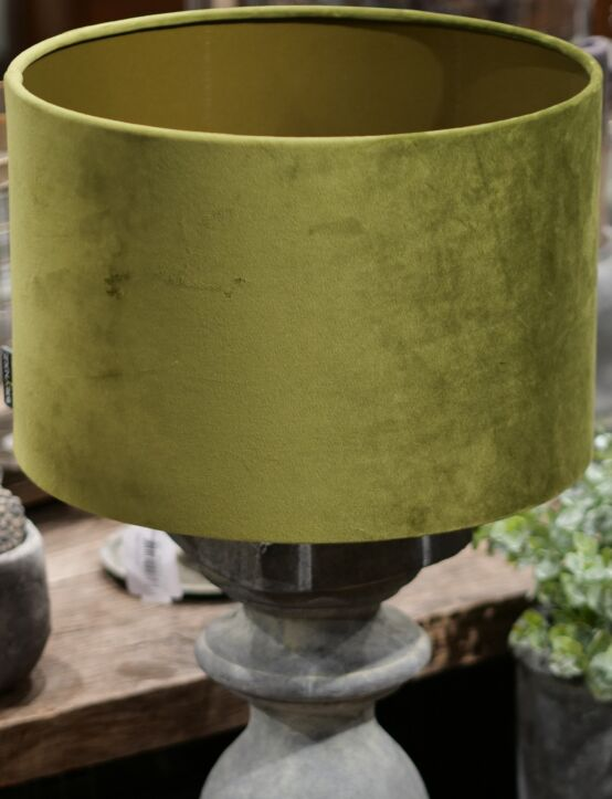 Lampshade Cylinder Green D25.H16