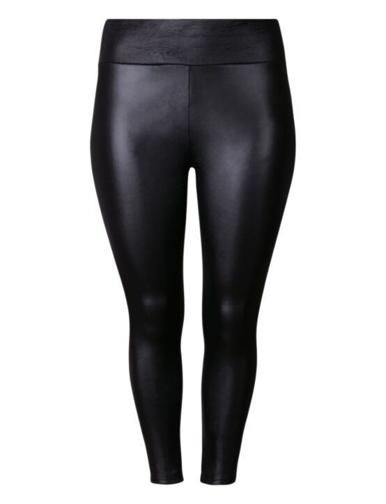 Soft Leather Look Legging Zwart
