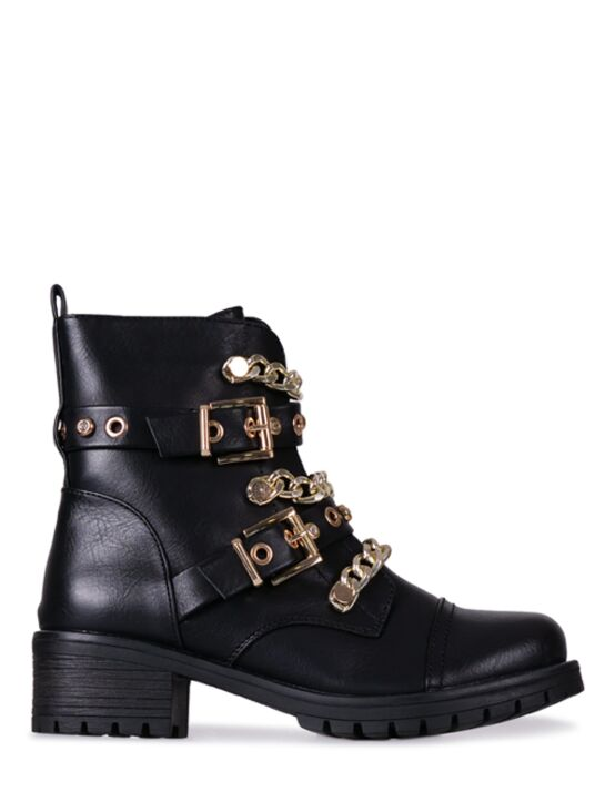 Boot Chain Zwart/ Goud