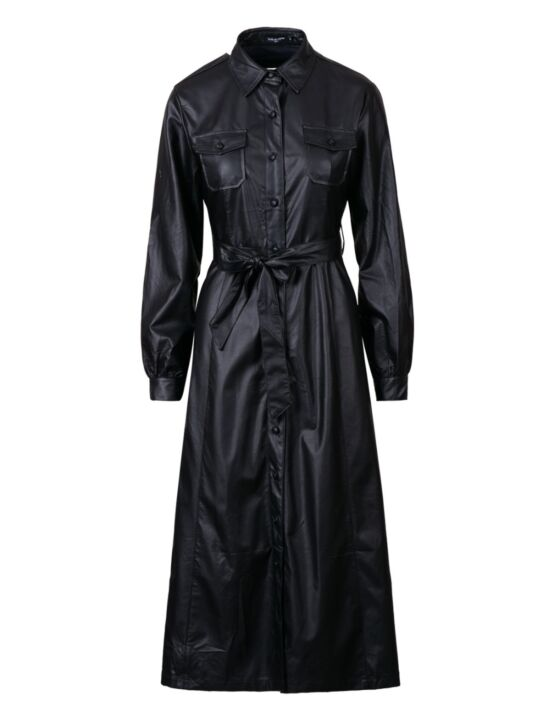 Leather-look Dress Ax