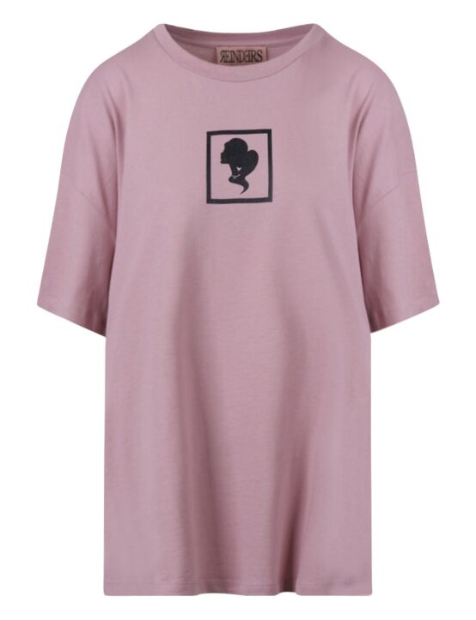 Reinders | T-shirt Headlogo Square Mauve