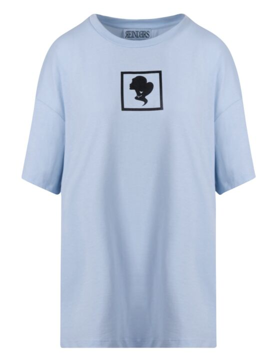 Reinders | T-shirt Headlogo Square Baby Blue