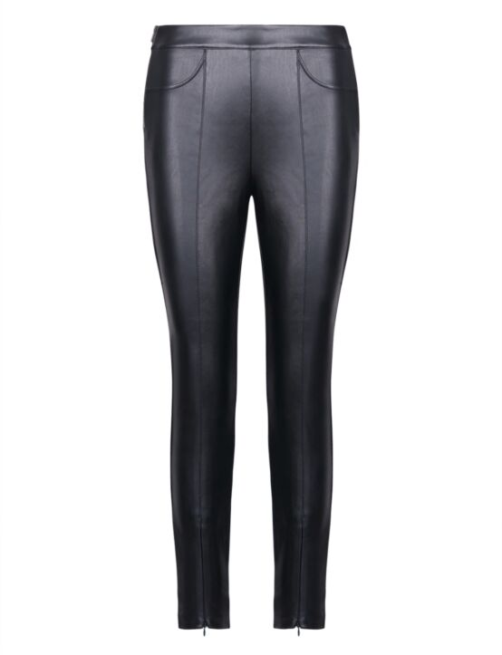 Cindy H | Leather Look Trouser H1961N Zwart