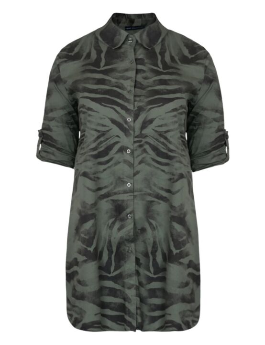 Lange blouse Zebra Groen