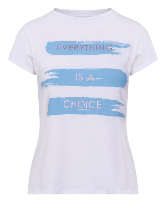 T-shirt Everything is a Choice Blauw