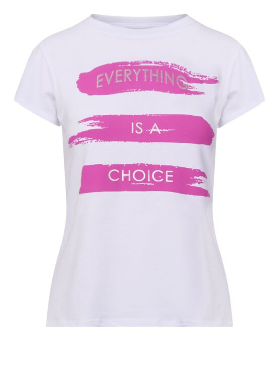 T-shirt Everything is a Choice Fuchsia