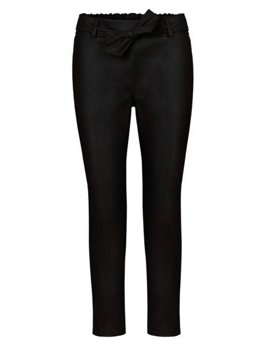 Leather-Look Trouser  Zwart