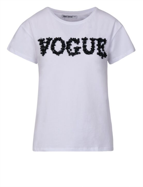 T-shirt Vogue Wit
