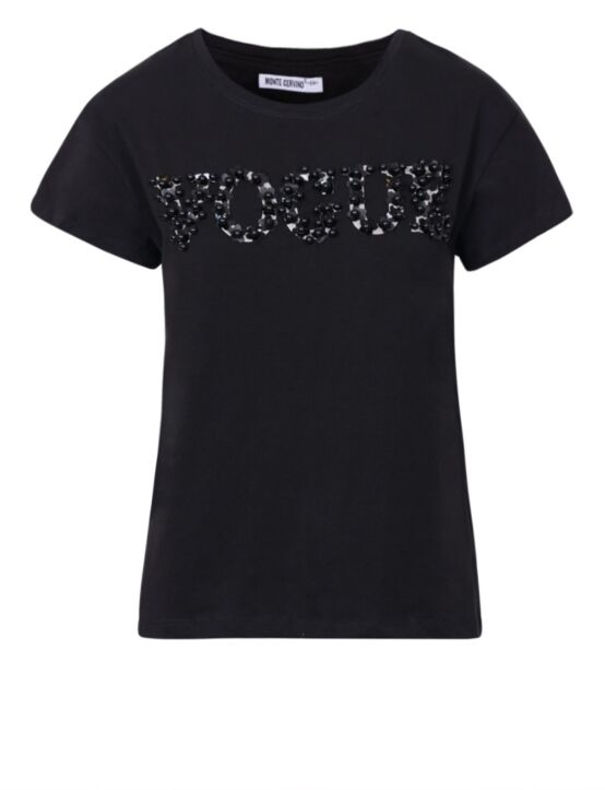 T-shirt Vogue Zwart