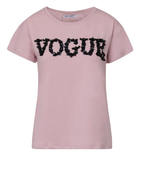 T-shirt Vogue Roze