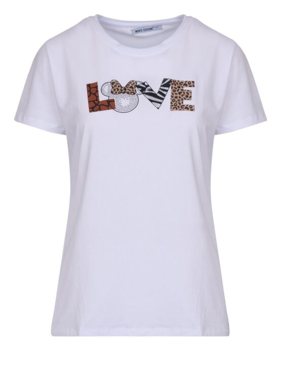 T-shirt Mini Panter Love WIT Bruin