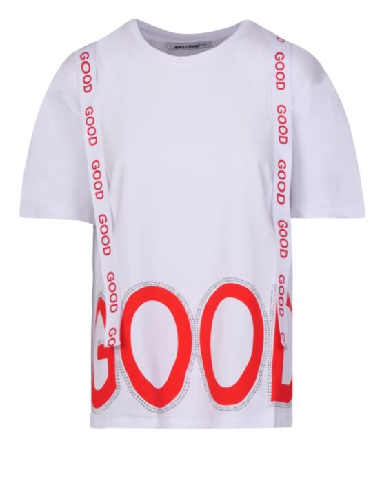 T-shirt GOOD Wit Rood