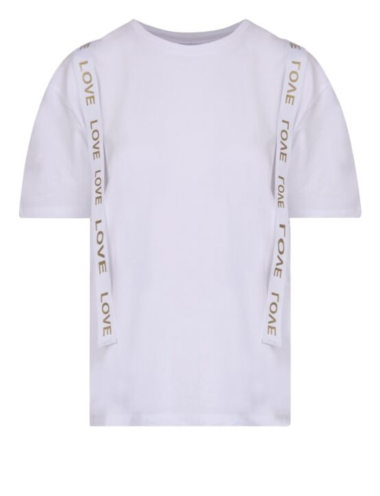 T-shirt LOVE Wit Goud