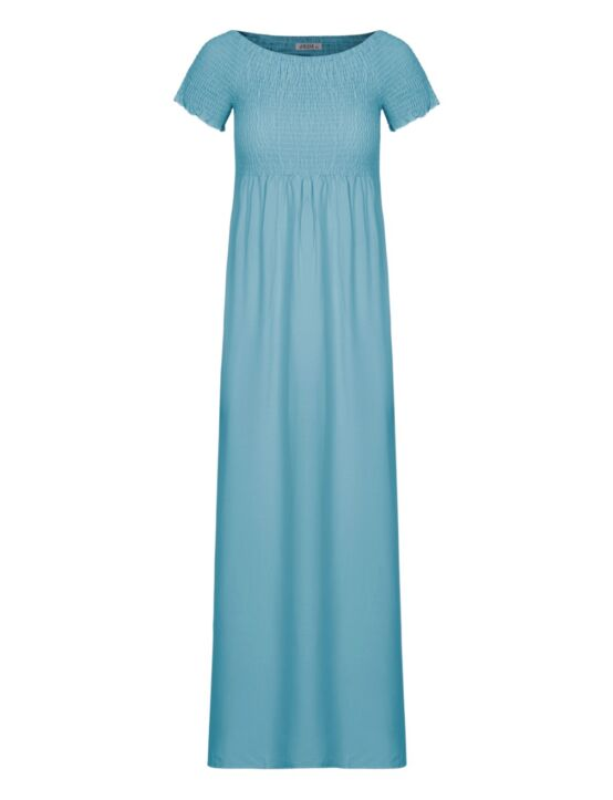 Long Dress Daisy Blauw