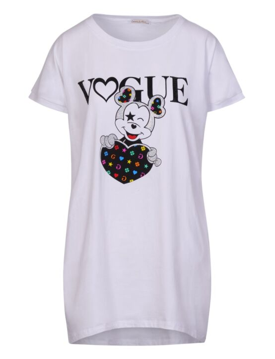 T-shirt Mickey Vogue Wit