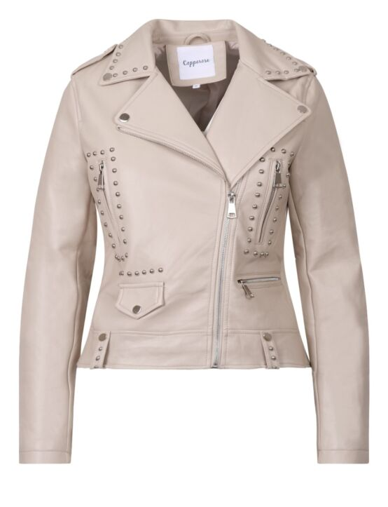Leather-look Jacket Janet Beige