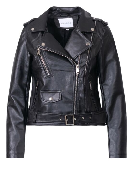 Leather-look Jacket Joy Zwart