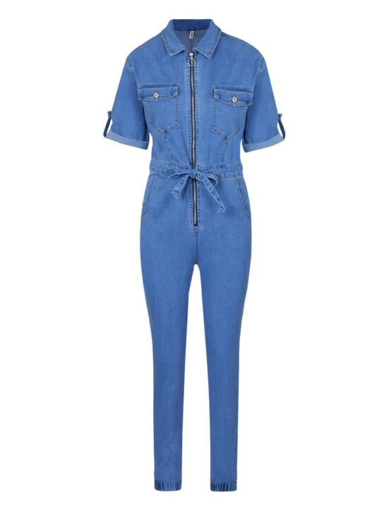 Jumpsuit Evelyn Blauw
