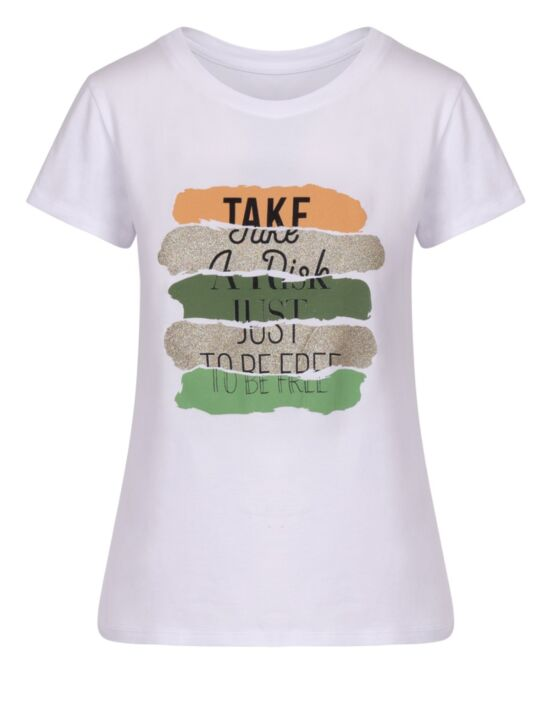 T-shirt Take a Risk Groen