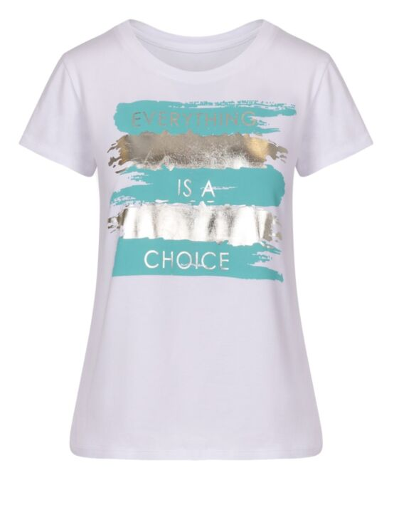 T-shirt Choice Metallic Turquoise