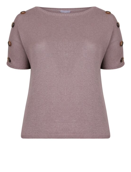 Knitted Top w/ Buttons Taupe