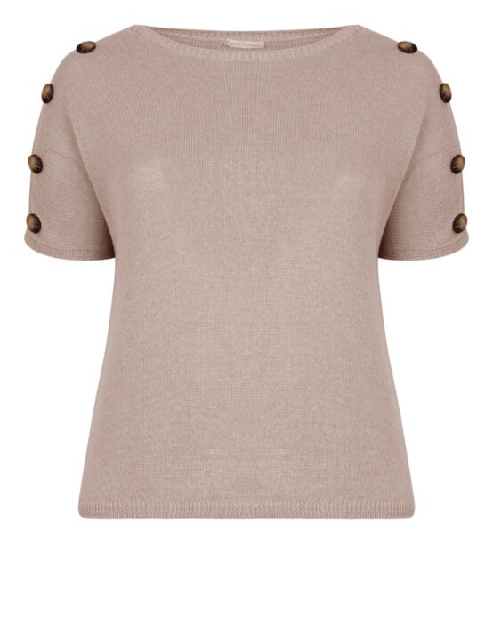 Knitted Top w/ Buttons Zand