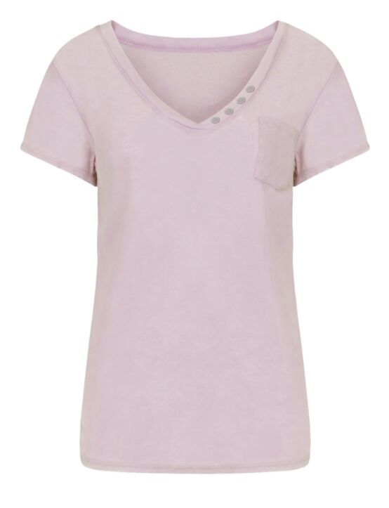 T-shirt Button Roze
