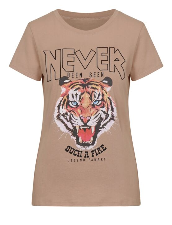 T-shirt Never Beige
