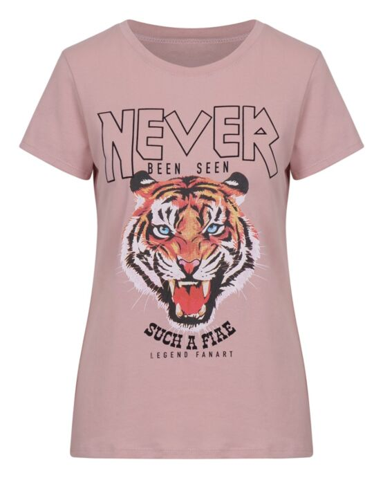 T-shirt Never Roze