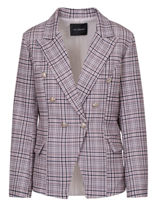 Checkered Jacket Zand