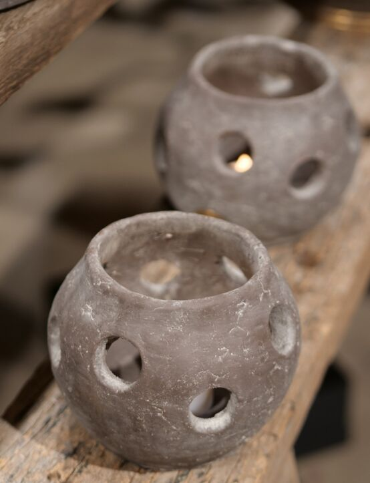 Tealightholder Basic Ind. Vintage D16.H136